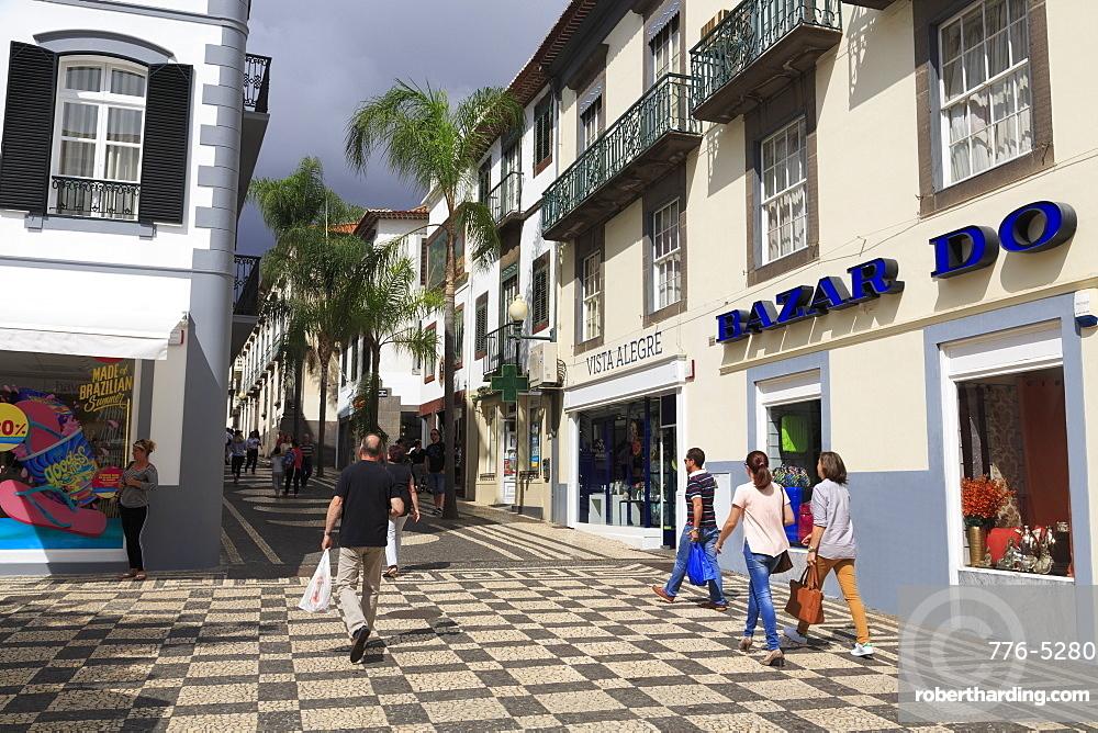 Chafariz Square, Funchal City, Madeira Island, Portugal, Europe