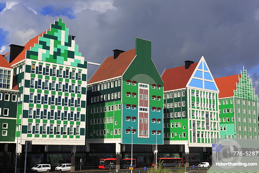 Colourful architecture, Zaandam, Holland, Netherlands, Europe