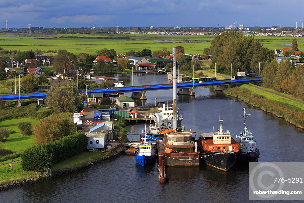 Boats, Zaandam, North Holland, Netherlands, Europe