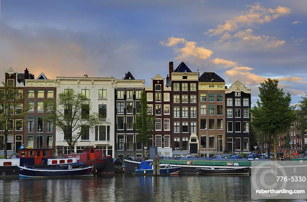 Amstel River, Amsterdam, North Holland, Netherlands, Europe