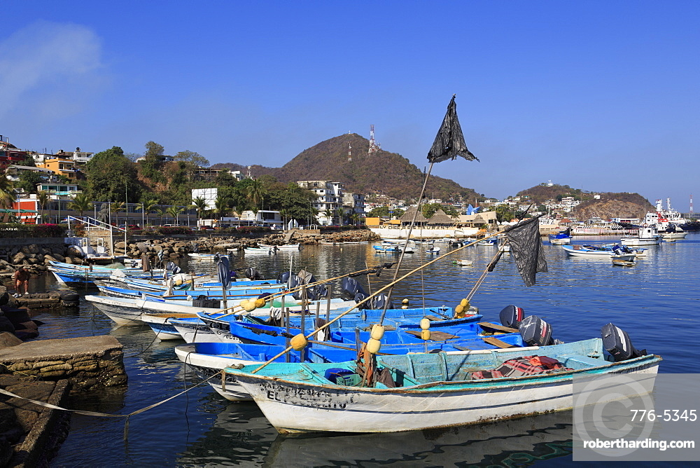 Fishing boats, Manzanillo City, Colima State, Mexico, North America