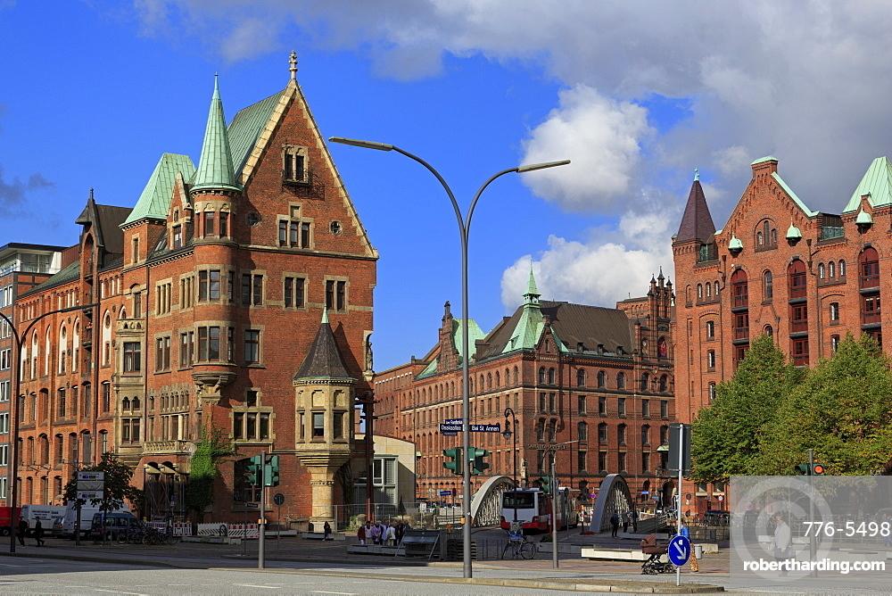 Speicherstadt, HafenCity District, Hamburg, Germany, Europe