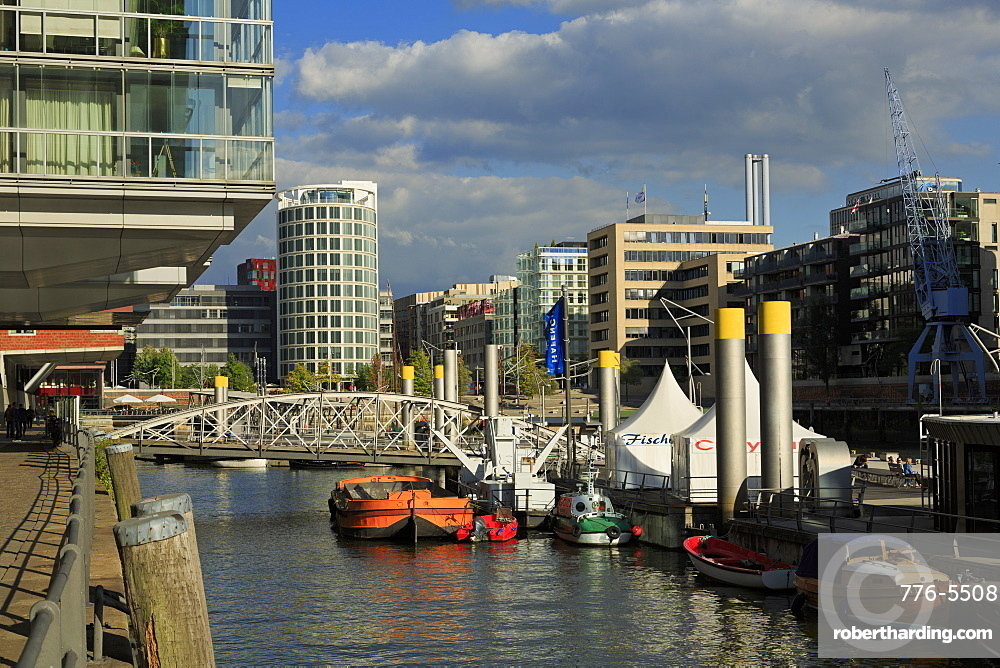 Historic boats, HafenCity District, Hamburg, Germany, Europe