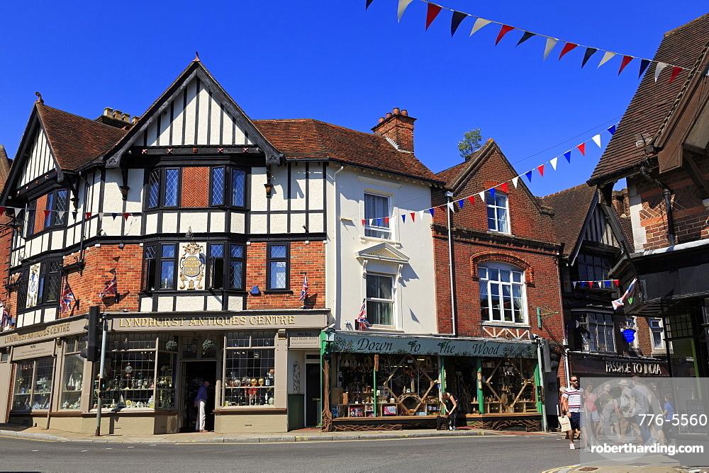 High Street, Lyndhurst Town, New Forest, Hampshire, England, United Kingdom, Europe