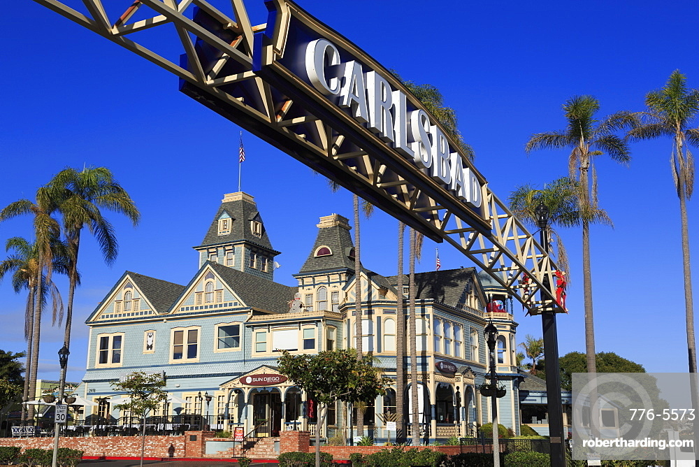 Victorian architecture, Carlsbad Village, San Diego County, California, United States of America