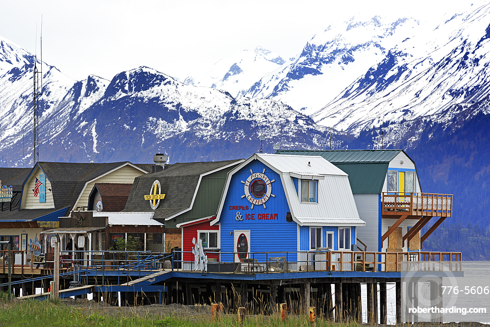 Store, Boardwalk, Homer Spit, Alaska, United States of America, North America