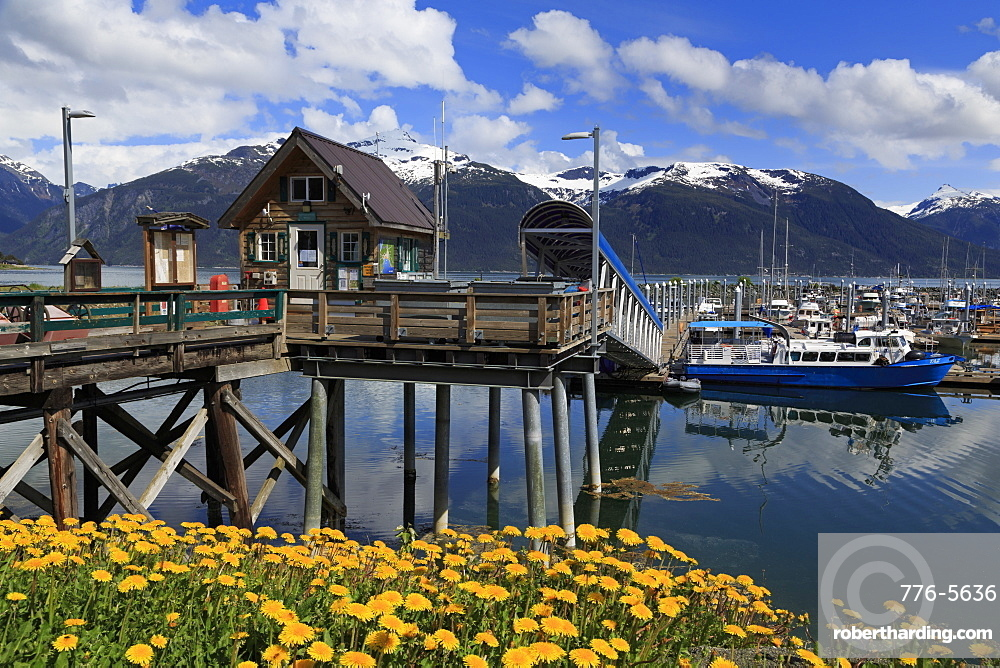 Harbor Masters Office, Small Boat Harbor, Haines, Lynn Canal, Alaska, United States of America, North America