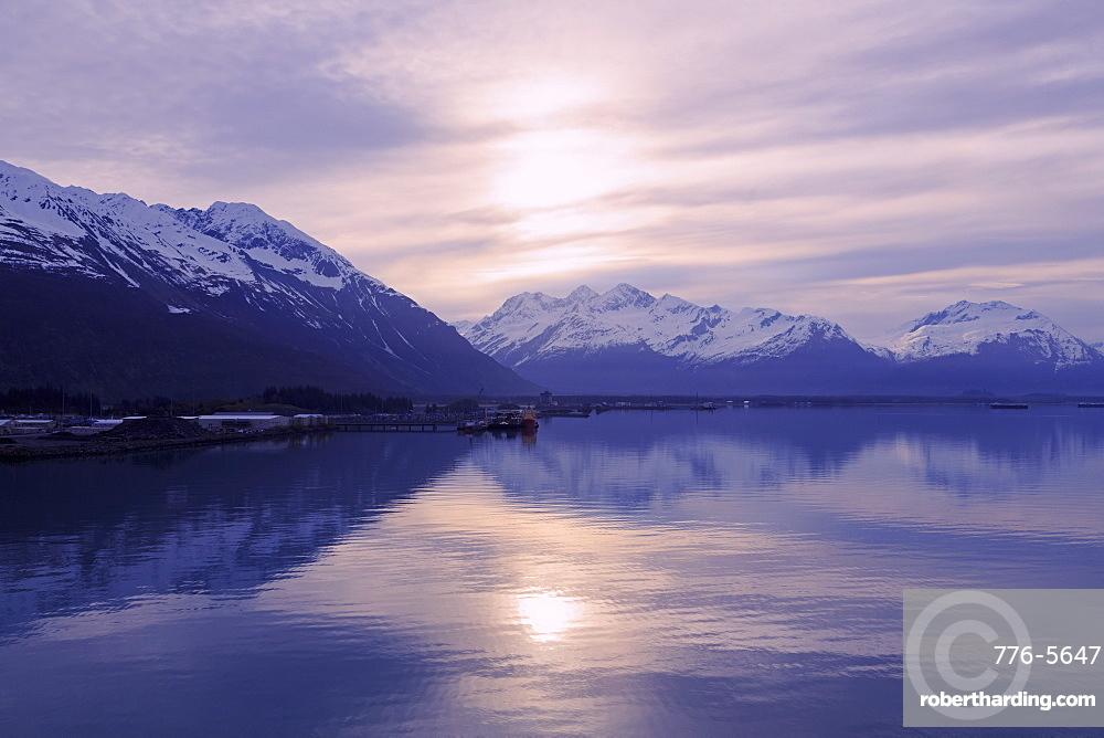 Sunrise, Valdez, Prince William Sound, Alaska, United States of America, North America