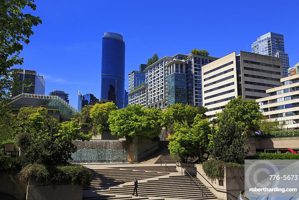 Robson Square, Vancouver City, British Columbia, Canada, North America