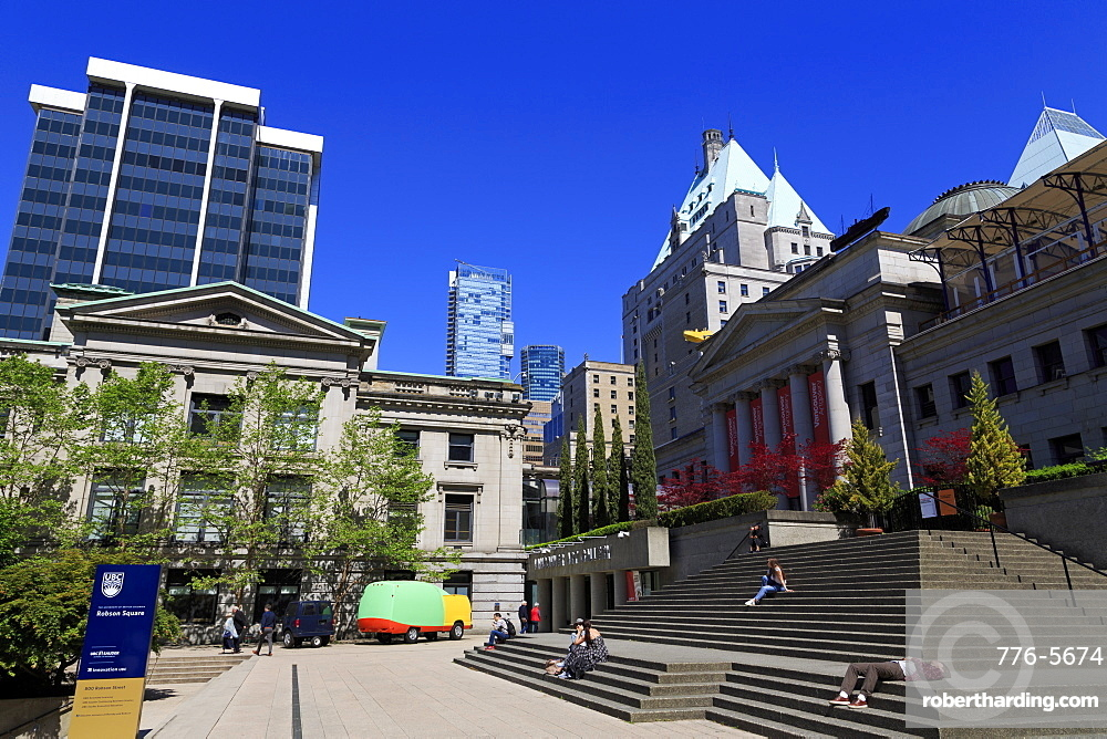 Art Gallery, Robson Square, Vancouver City, British Columbia, Canada, North America