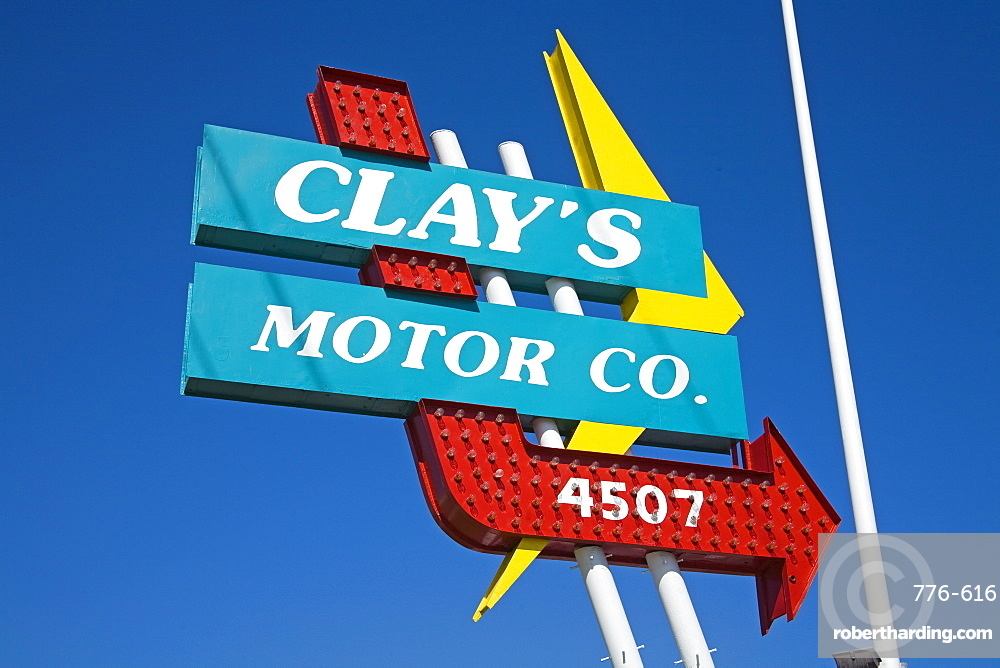Clay's Motor Company, Historic Route 66, Downtown Tulsa, Oklahoma, United States of America, North America