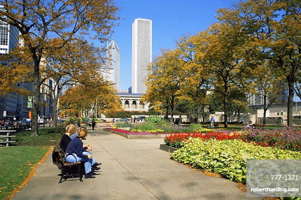 Grant Park and Michigan Avenue, Chicago, Illinois, United States of America, North America