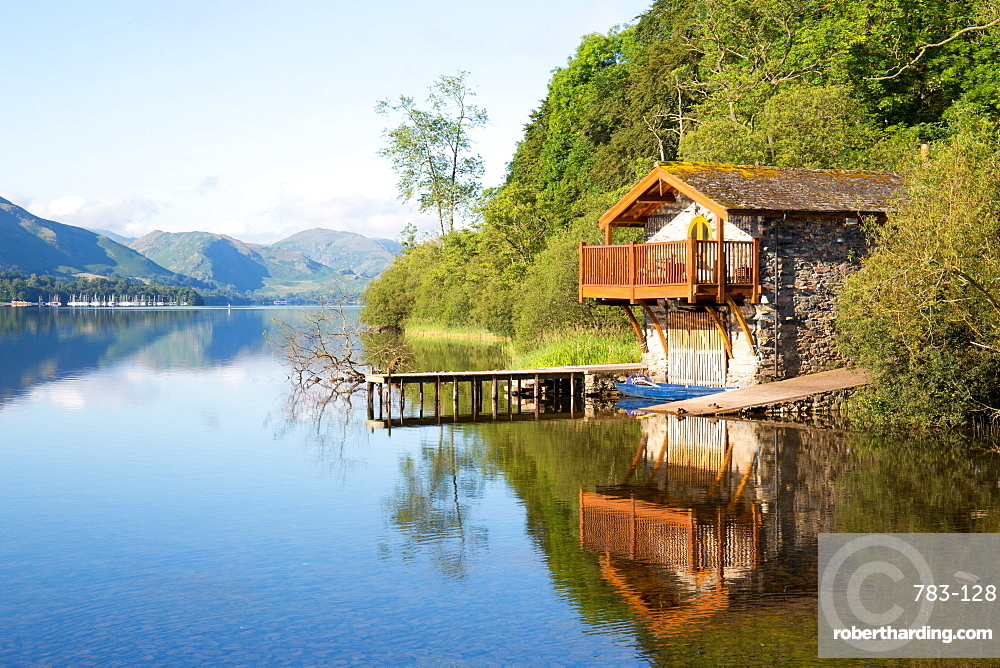 Duke of Portland Boathouse, Ullswater, Pooley Bridge, Lake District, UNESCO World Heritage Site, Cumbria, England, United Kingdom, Europe