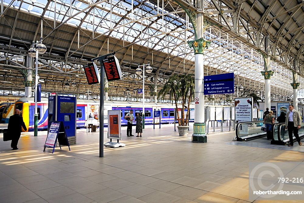 Piccadilly Railway Station, Manchester, England, | Stock Photo