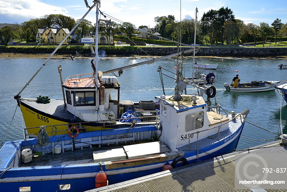 Fishing boats, Castletown, Castletownbere, Beara Peninsula, Wild Atlantic Way, County Cork, Munster, Republic of Ireland, Europe
