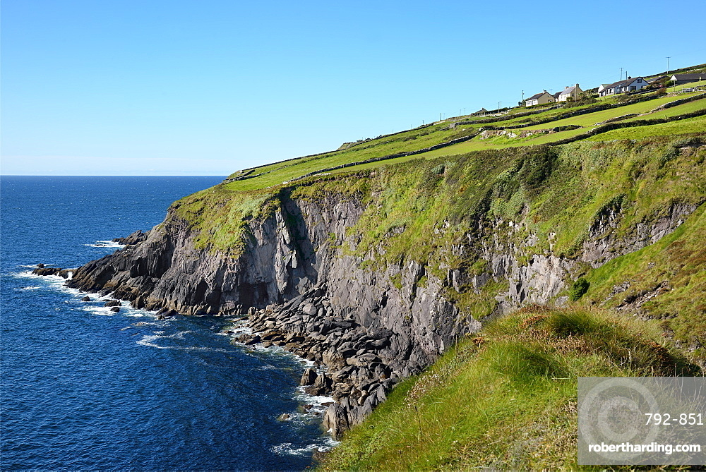 Dunbeg Promontory Fort, Slea Head Drive, Dingle Peninsula, Wild Atlantic Way, County Kerry, Republic of Ireland, Eire, Europe