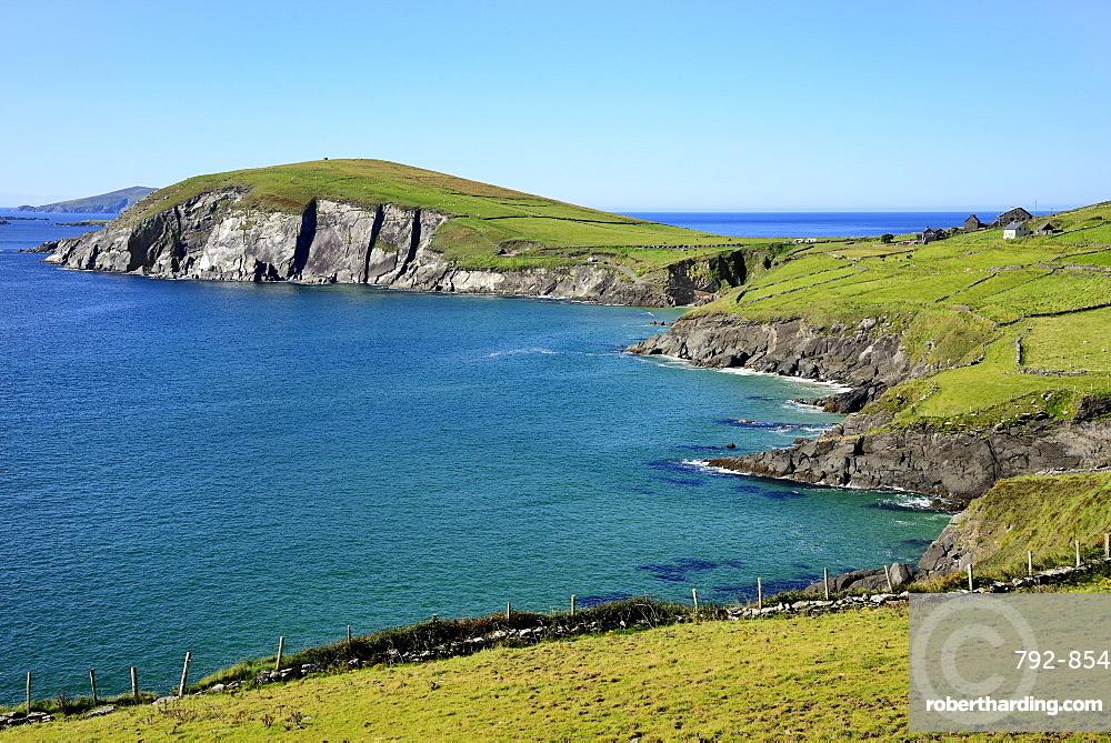 View of Slea Head, Slea Head, Dingle Peninsula, Wild Atlantic Way, County Kerry, Munster, Republic of Ireland, Europe