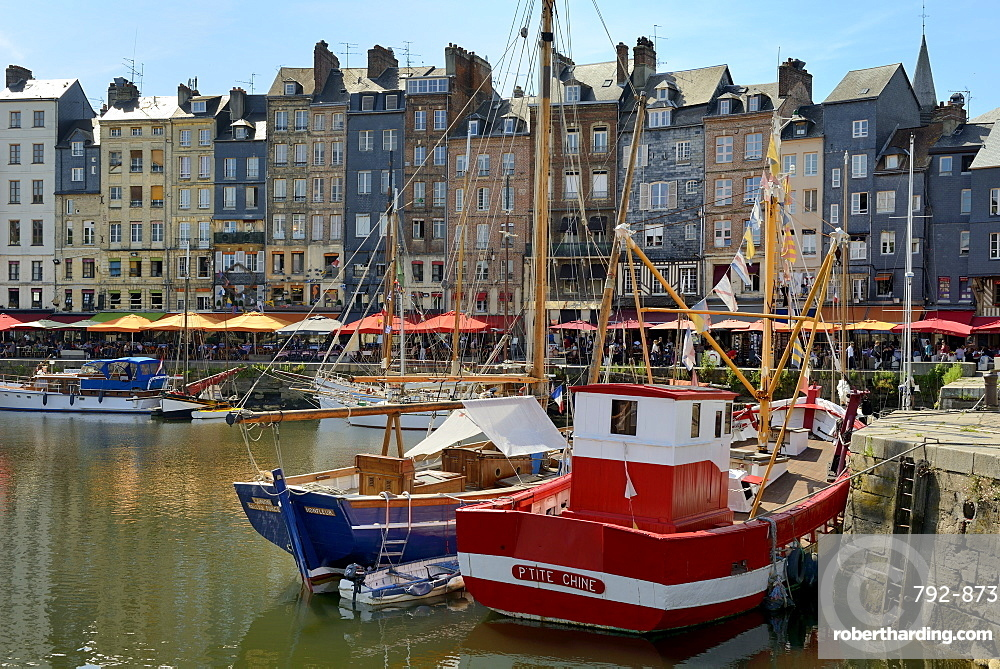 The Vieux Bassin, Old Harbour, St. Catherine's Quay and the ,Lieutenance, Calvados, Basse Normandie, Normandy, France, Europe
