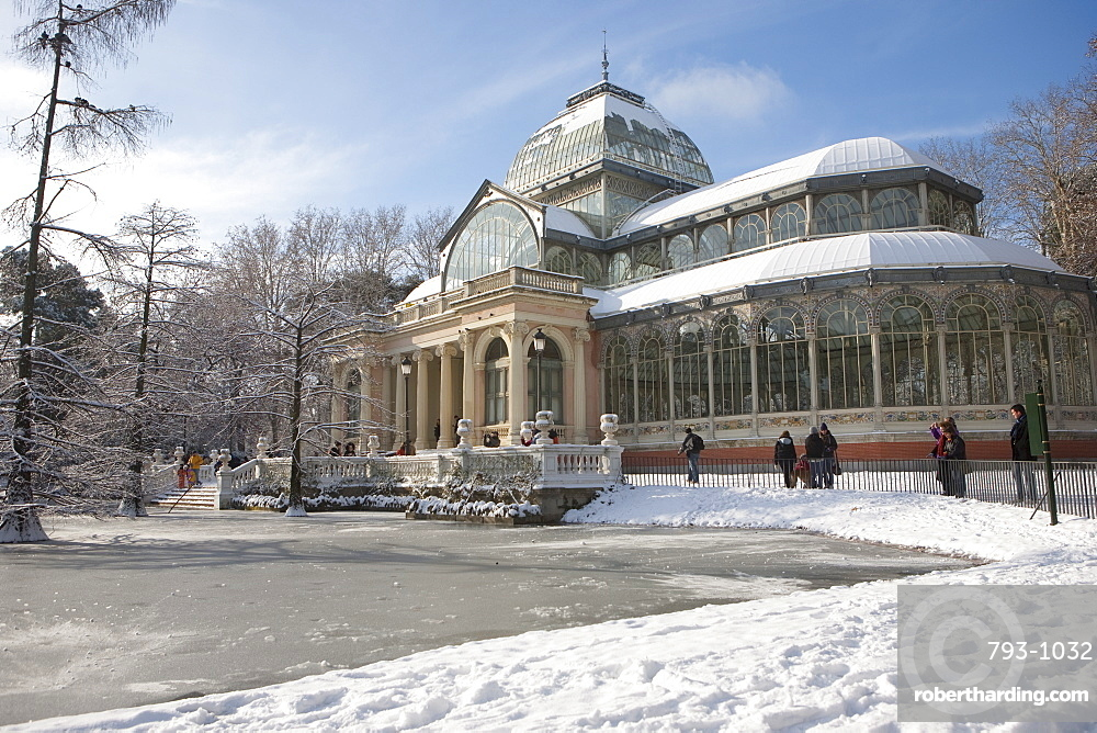 Palacio de Cristal, Retiro Park, | Stock Photo