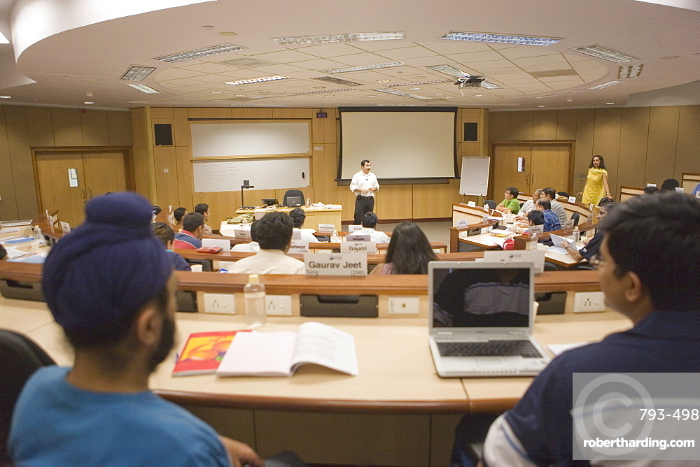 Classroom, Indian School of Business, Hi-Tech City, Hyderabad, Andhra Pradesh state, India, Asia