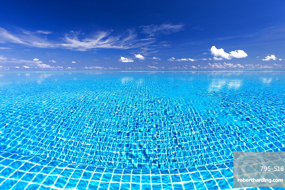 Infinity pool, Maldives, Indian Ocean, Asia