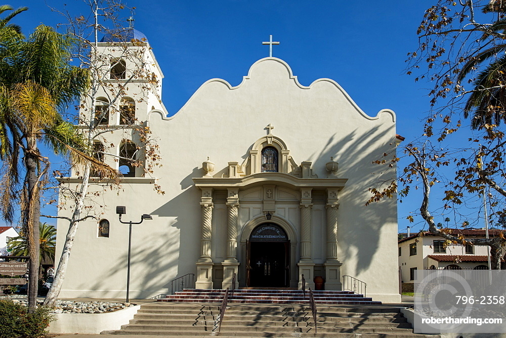 Catholic Church of the Immaculate Conception in Old Town, San Diego, California.