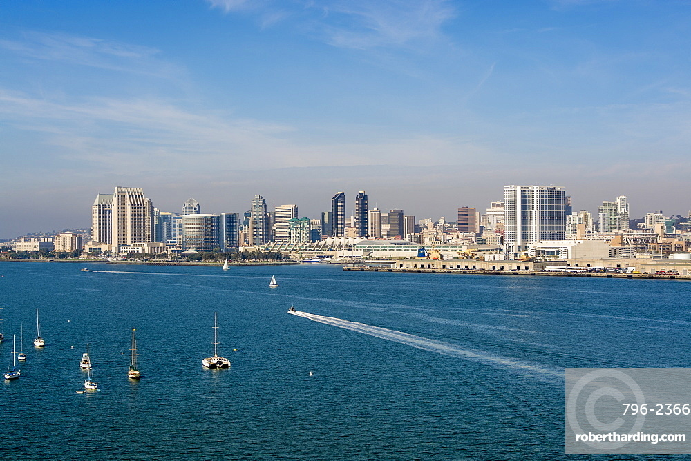 The San Diego skyline and harbor, San Diego, California, United States of America, North America