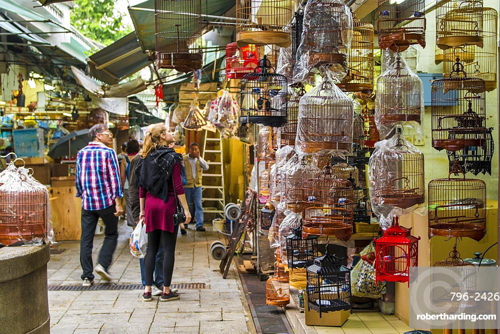 Yuen Po Street Bird Garden market, Mongkok, Kowloon, Hong Kong, China, Asia