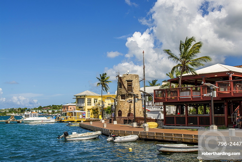 Christiansted harbour, St. Croix, US Virgin Islands, Caribbean