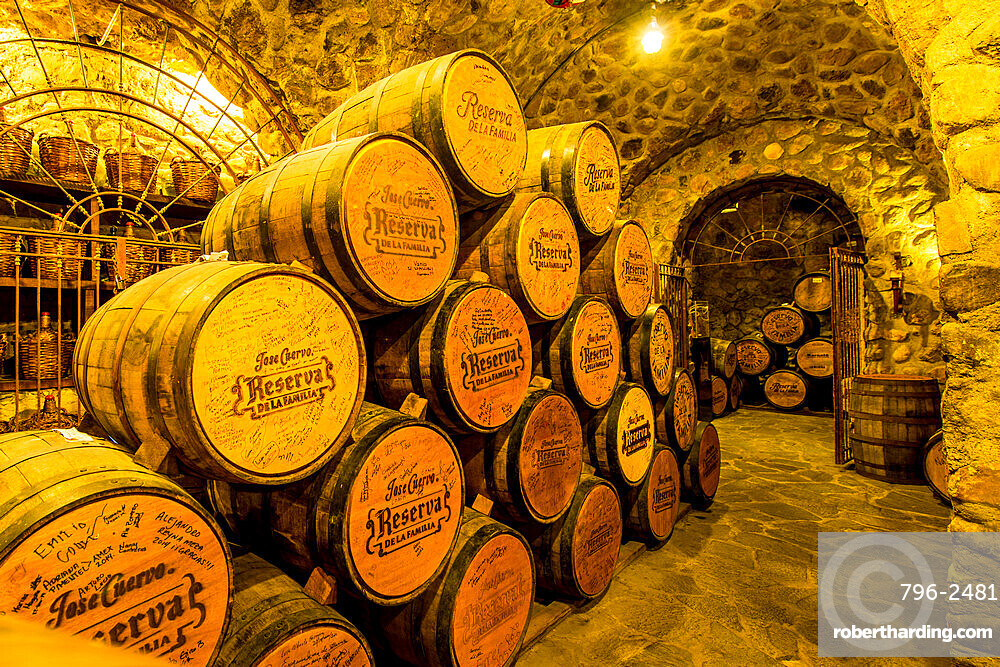 Jose Cuervo Tequila distillery cellar, Tequila, UNESCO World Heritage Site, Jalisco, Mexico.