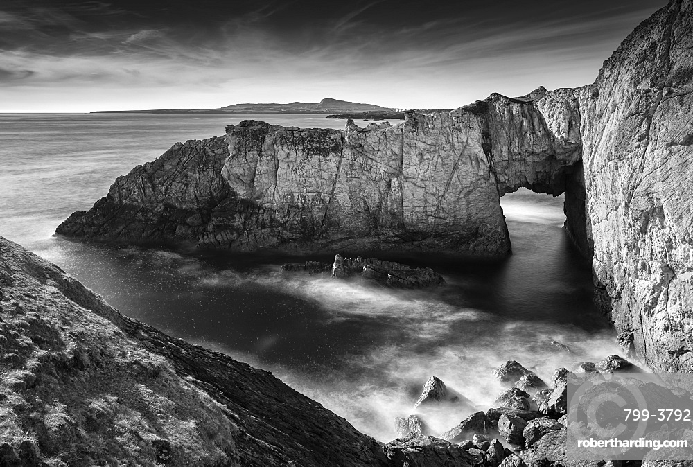 The White Arch at Rhoscolyn on the Isle of Anglesey, North Wales, UK. Spring (May) 2019.