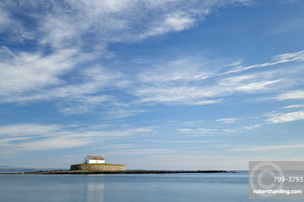 St. Cwyfan's Church near Aberffraw on Anglesey, North Wales, United Kingdom, Europe
