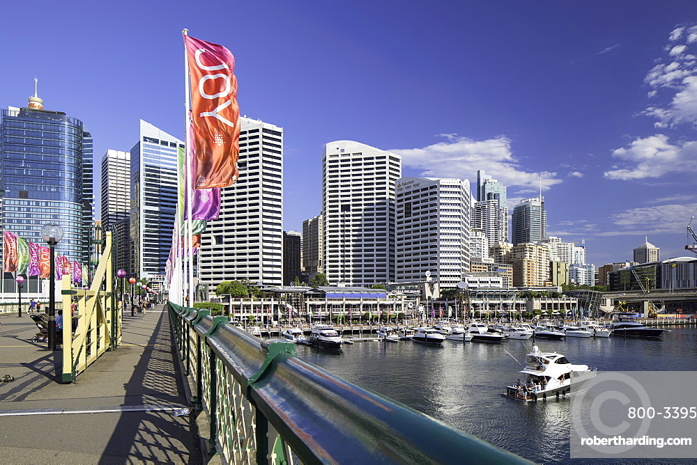 Pyrmont Bridge, Darling Harbour, Sydney, New South Wales, Australia