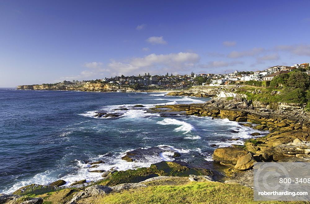 Coastline of Bondi to Bronte walk, Sydney, New South Wales, Australia