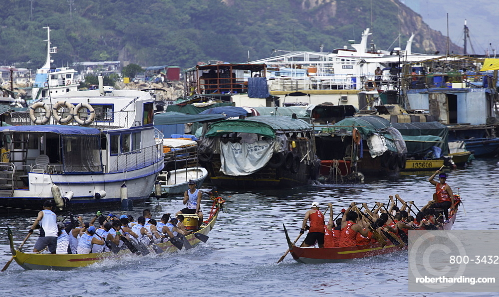 Dragon boat race, Shau Kei Wan, Hong Kong Island, Hong Kong, China