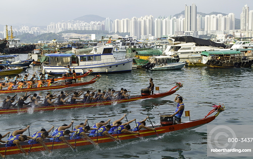 Dragon boat race, Shau Kei Wan, Hong Kong Island, Hong Kong, China