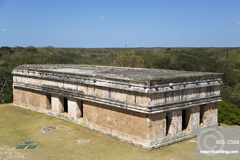 House of Turtles, Uxmal Mayan archaeological site, UNESCO World Heritage Site, Yucatan, Mexico, North America