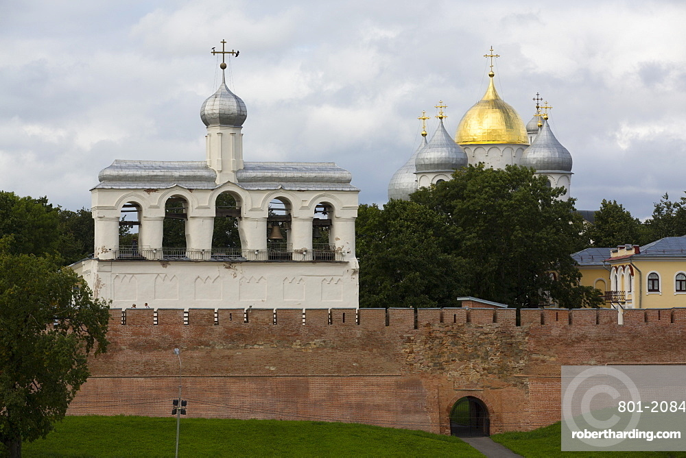 St. Sophia Cathedral and Bell Tower, Kremlin, UNESCO World Heritage Site, Veliky Novgorod, Novgorod Oblast, Russia, Europe