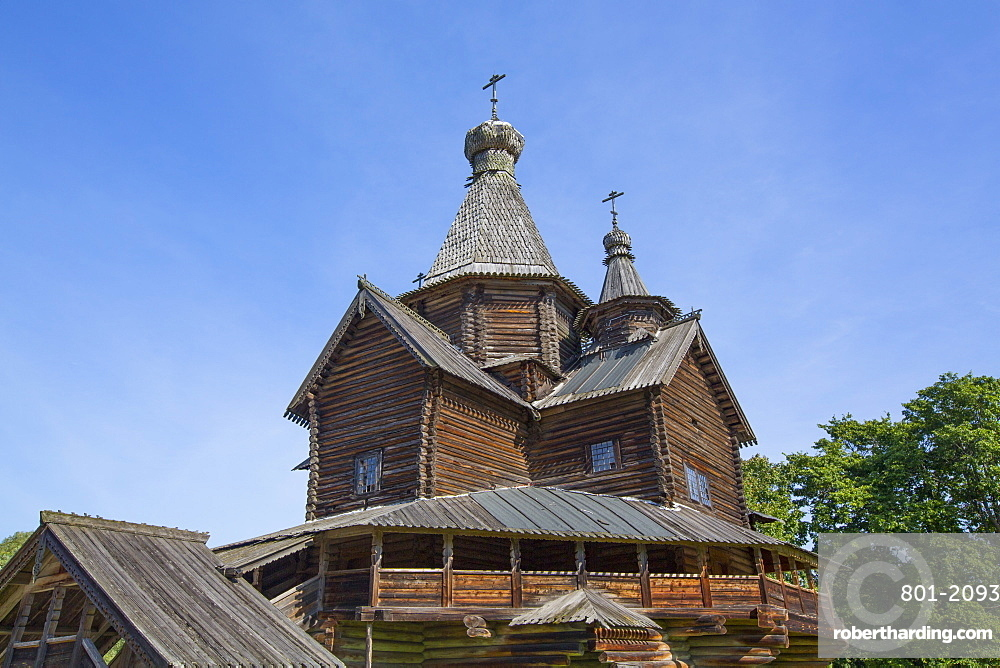 Church of the Nativity of the Holy Virgin, Vitoslavlitsy Museum of Wooden Architecture, Veliky Novgorod, Novgorod Oblast, Russia, Europe