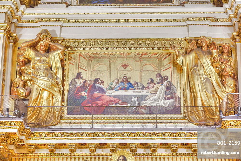Interior Fresco, The Last Supper, St Isaac's Cathedral, UNESCO World Heritage Site, St Petersburg, Russia