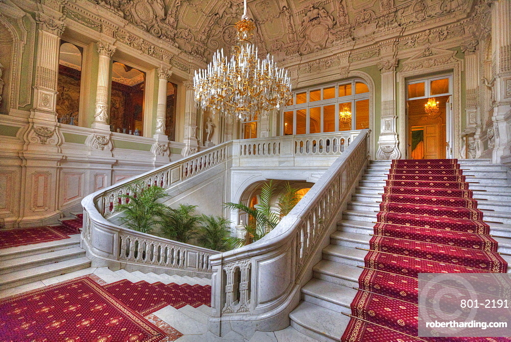 Entry Staircase, Yusupov Palace on the Moika, St. Petersburg, Russia, Europe