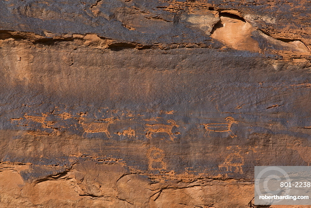 Petroglyphs, Near River House Ruins, Ancestral Pueblo, Shash Jaa National Monument, Utah, United States of America, North America