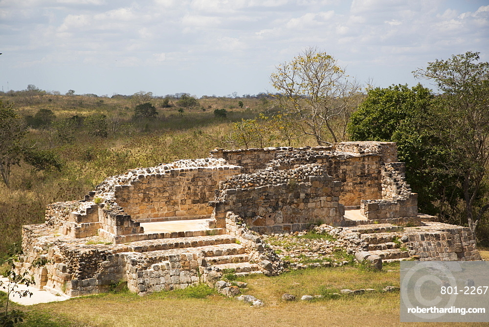 Mayan Ruins, Oxkintok Archaeological Zone, 300 to1050 AD, Yucatan, Mexico, North America