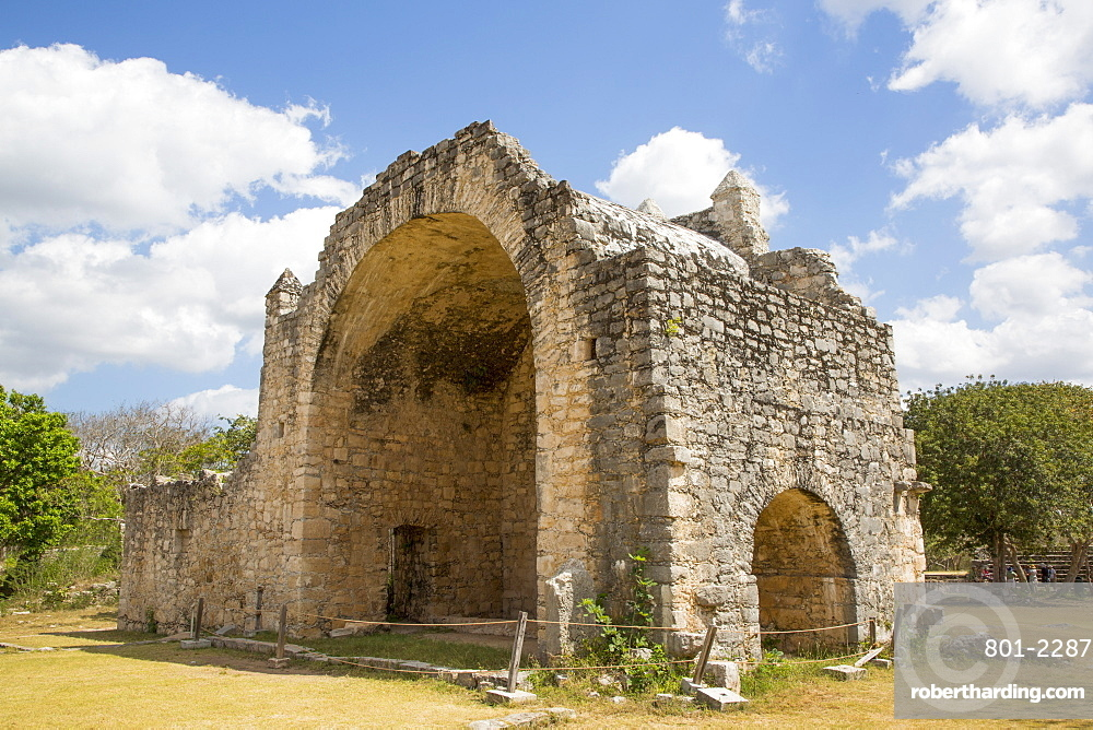 Open Chapel (Capilla), Constructed 1590-1600, Dzibilchaltun Archaeological Site, near Merida, Yucatan, Mexico