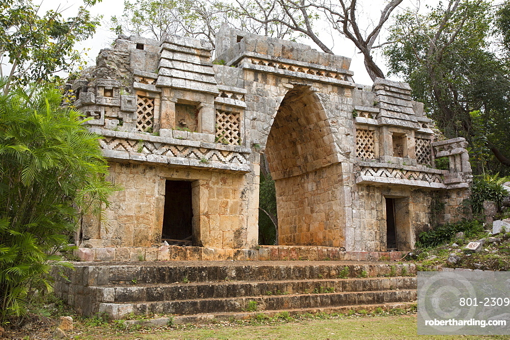 Arch (Arco), Labna Archaeological Site, Mayan Ruins, Puuc style, Yucatan, Mexico, North America