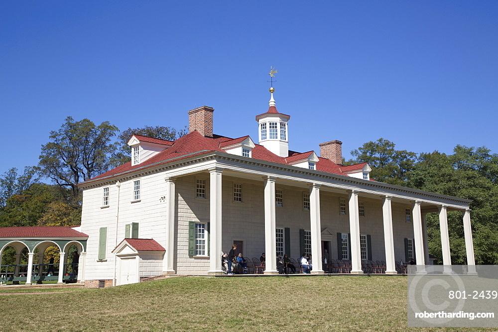 George Washington Mansion, Mount Vernon, Virginia, United States of America, North America