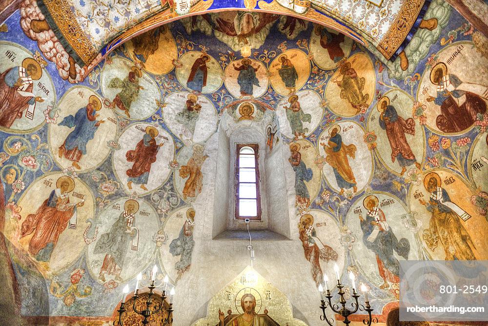 Frescoes, Transfiguration Cathedral, Monastery of St Euthymius, UNESCO World Heritage Site, Suzdal, Vladimir Oblast, Russia