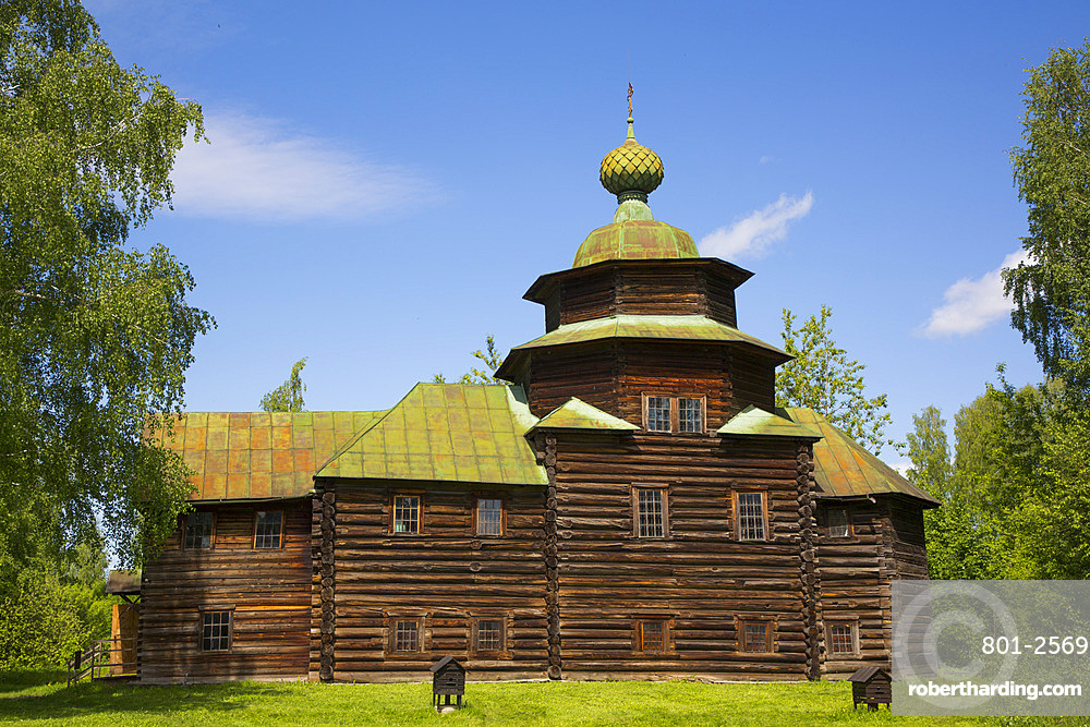 Church of Elijah the Prophet, Museum of Wooden Architecture, Kostroma, Kostroma Oblast, Russia, Europe