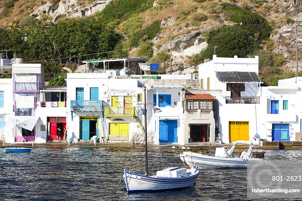 Klima Village, Milos Island, Cyclades Group, Greek Islands, Greece, Europe