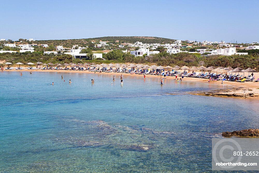 Santa Maria Beach, Paros Island, Cyclades Group, Greece